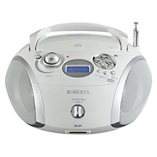Buy ROBERTS ZoomBox 2 DAB/FM CD Radio, White Online at johnlewis.com