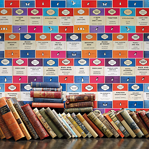 Buy Osborne & Little Penguin Library Wallpaper Online at johnlewis.com