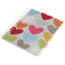 Buy Go Stationery Graphic Heart A6 Notebook, Multi Online at johnlewis.com