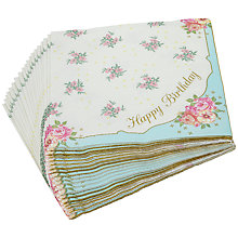 Buy Talking Tables Truly Scrumptious Birthday Napkins, Pack of 20 Online at johnlewis.com