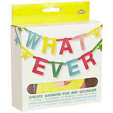 Buy Whatever Banner, Multi Online at johnlewis.com