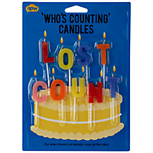 Buy Lost Count Birthday Candles, Set of 9 Online at johnlewis.com