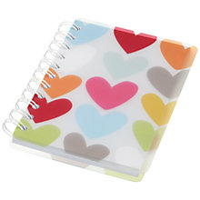 Buy Go Stationery Graphic Heart A5 Notebook, Multi Online at johnlewis.com