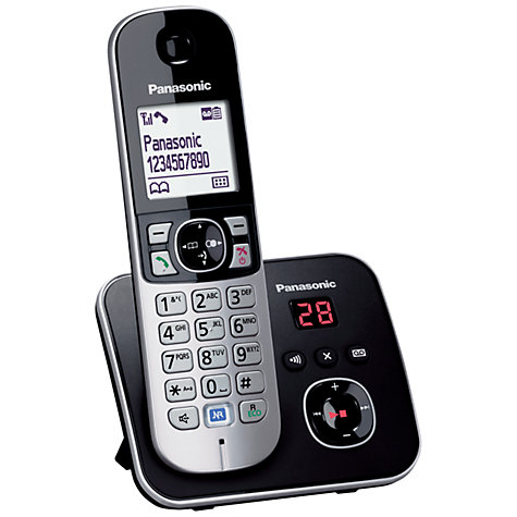 Buy Panasonic KX-TG6822 Digital Telephone and Answering Machine, Twin DECT Online at johnlewis.com