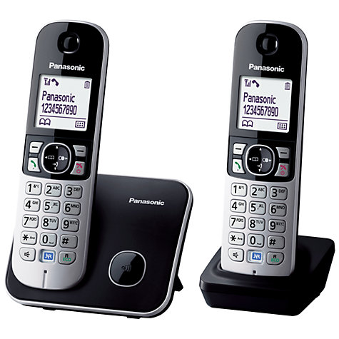 Buy Panasonic KX-TG6812 Digital Telephone, Twin DECT Online at johnlewis.com