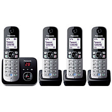 Buy Panasonic KX-TG6824 Digital Telephone and Answering Machine, Quad DECT Online at johnlewis.com