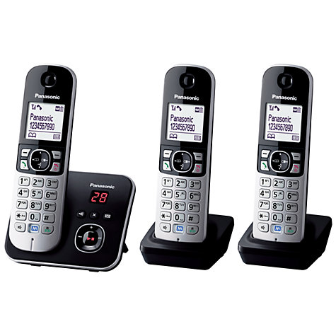 Buy Panasonic KX-TG6823 Digital Telephone and Answering Machine, Trio DECT Online at johnlewis.com