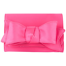 Buy Ted Baker Lomas Bow Clutch Handbag, Bright Pink Online at johnlewis.com