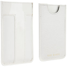 Buy Ted Baker Fontini Leather iPhone 5 Sleeve, White Online at johnlewis.com