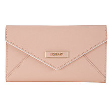 Buy DKNY Saffiano Envelope Clutch Purse, Pink Online at johnlewis.com