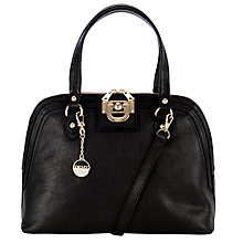 Buy DKNY Vintage Leather Satchel Handbag, Black Online at johnlewis.com