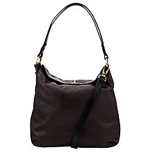 Buy John Lewis Flat Top Leather Across Body Bag Online at johnlewis.com