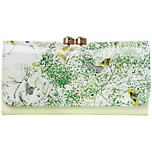 Buy Ted Baker Venla Dancing Leaves Matinee Purse, Light Green Online at johnlewis.com