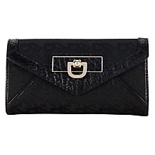 Buy DKNY Town & Country French Grain Envelope Clutch Purse, Black Online at johnlewis.com