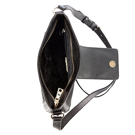 Buy DKNY Town & Country Vintage Leather Across Body Handbag, Black Online at johnlewis.com