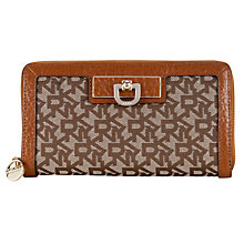 Buy DKNY Town & Country French Grain Zip Around Purse, Caramel / Chino Online at johnlewis.com