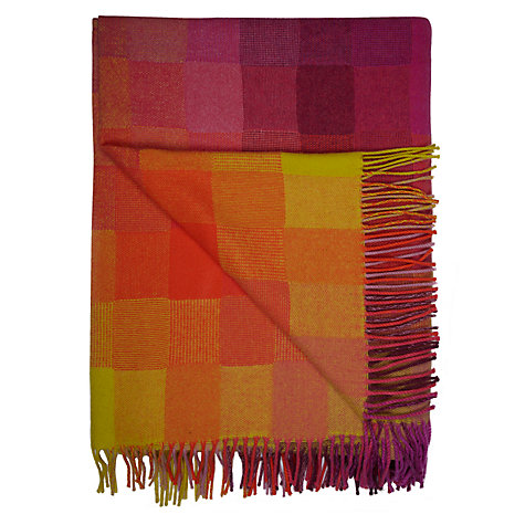 Buy Avoca Spectrum Throw, Jelly Bean Online at johnlewis.com