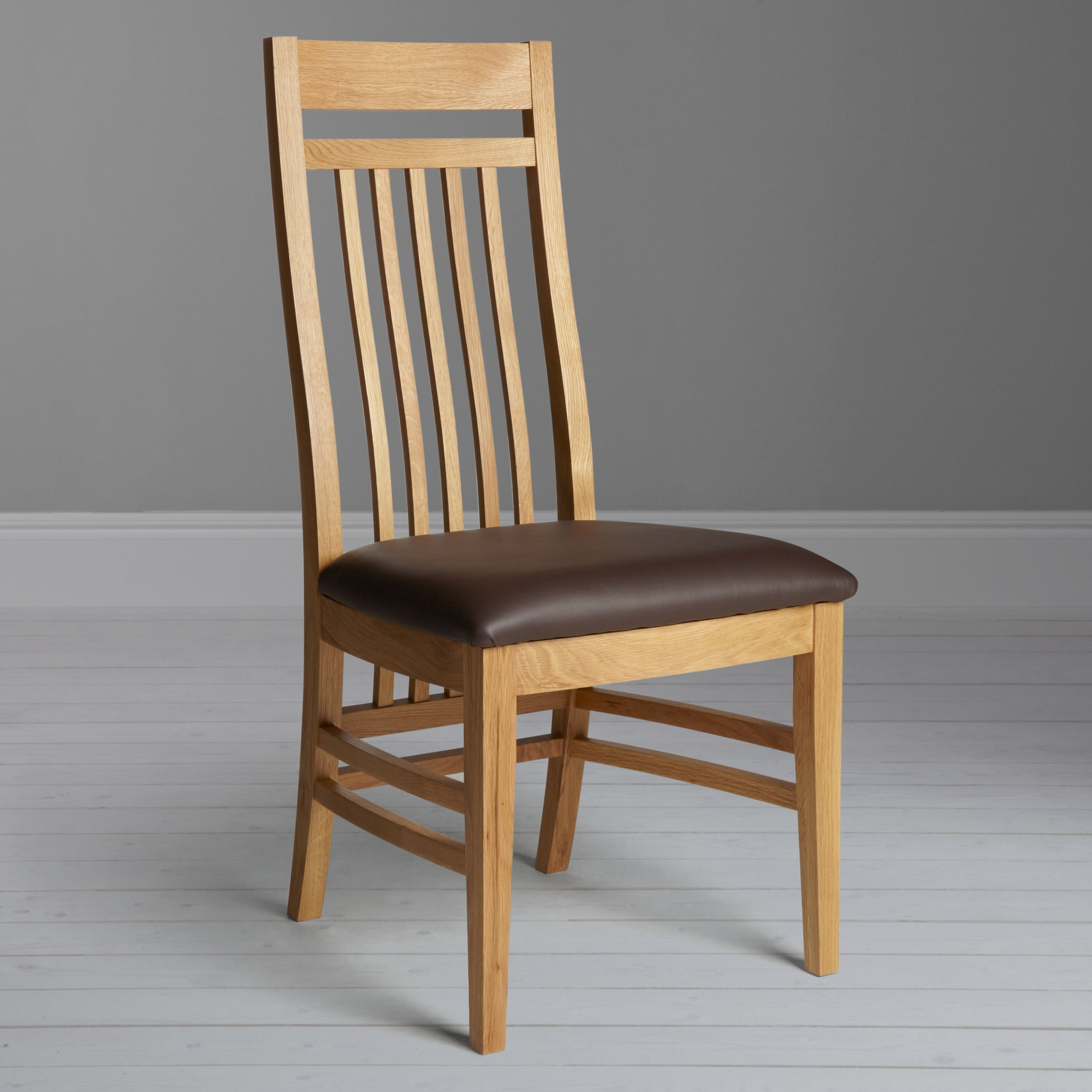 John Lewis Burford Slatted Dining Chair Oak