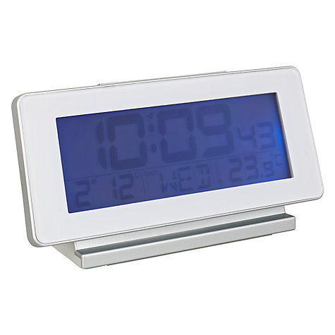 Buy Acctim Novara RC LCD Alarm Clock, White Online at johnlewis.com