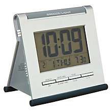 Buy Acctim Apex Smartlite LCD Alarm Clock, Silver Online at johnlewis.com