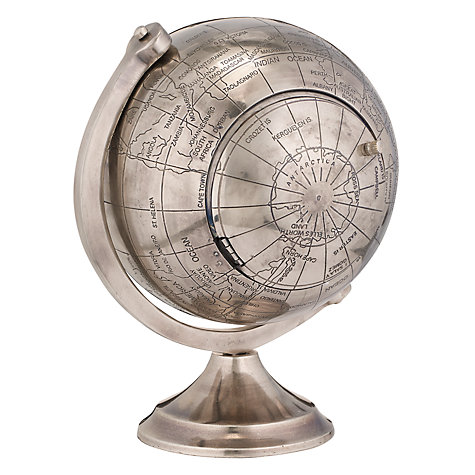 Buy Libra Atlas Round Globe Clock, Large Online at johnlewis.com