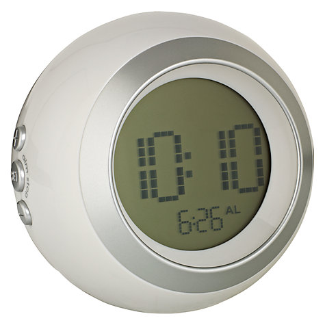Buy Acctim Lumini Colour Changing LCD Alarm Clock, White Online at johnlewis.com