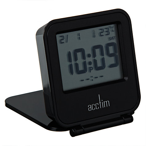 Buy Acctim Joy LCD Flip Alarm Clock, Black Online at johnlewis.com