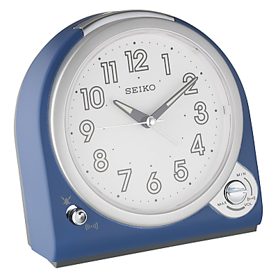 Image of Seiko Volume Control Alarm Clock, Blue