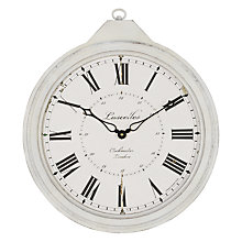 Buy Lascelles Distressed FOB Watch Wall Clock Online at johnlewis.com