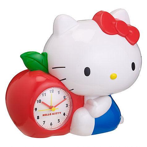 Buy Zeon Hello Kitty Apple Money Box Alarm Clock Online at johnlewis.com