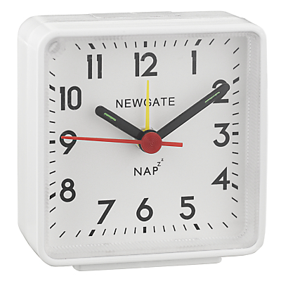 Newgate Nap Alarm Clock White
