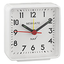 Buy Newgate Nap Alarm Clock, White Online at johnlewis.com
