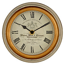 Buy Thomas Kent Crest Wall Clock, Dia.15cm Online at johnlewis.com