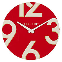 Buy Thomas Kent Henley Wall Clock, Dia.38cm, Red Online at johnlewis.com