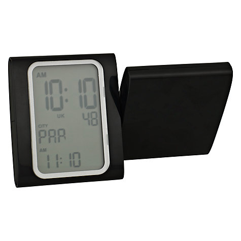 Buy Lexon X Alarm Clock, Black Online at johnlewis.com