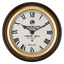Buy Thomas Kent Paddington Wall Clock, Dia.15cm Online at johnlewis.com