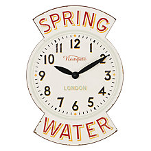 Buy Newgate Spring Water Wall Clock Online at johnlewis.com