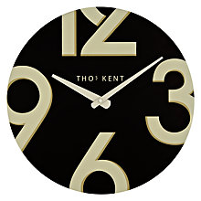 Buy Thomas Kent Henley Wall Clock, Dia.38cm, Black Online at johnlewis.com