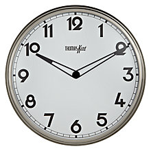 Buy Thomas Kent Empire Wall Clock, Dia.33cm, Steel Online at johnlewis.com