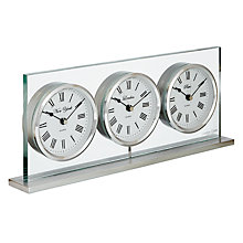 Buy London Clock 3 Time Zone Mantel Clock Online at johnlewis.com