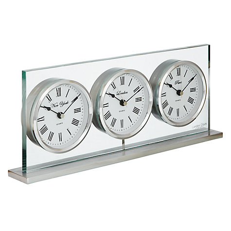 Buy London Design 3 Time Zone Mantel Clock Online at johnlewis.com