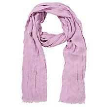 Buy Collection WEEKEND by John Lewis Plain Crinkle Scarf, Pink Online at johnlewis.com