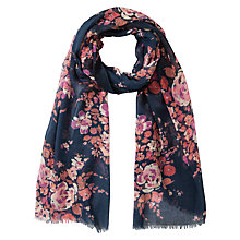 Buy Fat Face Rose Garden Scarf, Navy Online at johnlewis.com