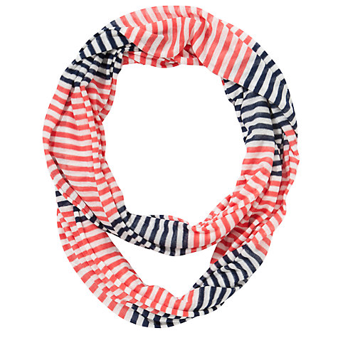 Buy Collection WEEKEND by John Lewis Stripe Jersey Snood, Navy Online at johnlewis.com