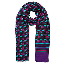 Buy COLLECTION by John Lewis Circle Layer Scarf, Purple Online at johnlewis.com