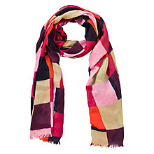 Buy John Lewis Cube Patchwork Scarf, Red Online at johnlewis.com