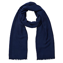 Buy John Lewis Heavyweight Viscose Scarf, Navy Online at johnlewis.com