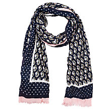 Buy Collection WEEKEND by John Lewis Blurred Ditsy Scarf, Navy Online at johnlewis.com
