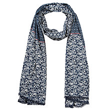 Buy Collection WEEKEND by John Lewis English Garden Scarf, Navy Online at johnlewis.com