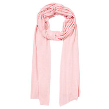 Buy Collection WEEKEND by John Lewis Jersey Slub Scarf, Pink Online at johnlewis.com